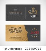 voucher template with premium... | Shutterstock .eps vector #278469713
