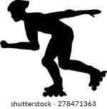 inline skater silhouette   Shutterstock .eps vector #278471363