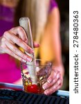 bartender making new old... | Shutterstock . vector #278480363