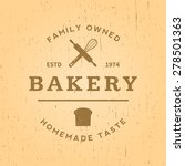 Bakery Label On Yellow Grunge...