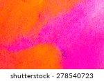 orange abstract watercolor...   Shutterstock . vector #278540723