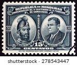 honduras   circa 1937  a stamp... | Shutterstock . vector #278543447