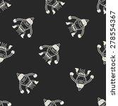 robot doodle seamless pattern... | Shutterstock . vector #278554367
