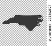 map of north carolina | Shutterstock .eps vector #278562527