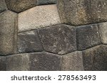 rock wall close up background. | Shutterstock . vector #278563493