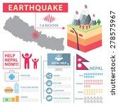 earthquake crisis in nepal ...   Shutterstock .eps vector #278575967
