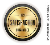 Gold Satisfaction Badge With...