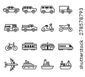 transportation icons | Shutterstock .eps vector #278578793