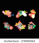 set of labels  stickers ... | Shutterstock .eps vector #278582063