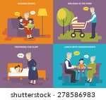 happy grandparents are playing...   Shutterstock .eps vector #278586983