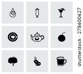 vector beverages icon set on... | Shutterstock .eps vector #278600627