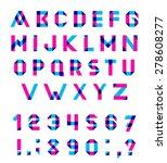 vector alphabet set fun... | Shutterstock .eps vector #278608277