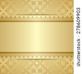 gold pattern with ornament and... | Shutterstock .eps vector #278609903