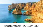 a view of a praia da rocha in... | Shutterstock . vector #278624237