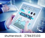 accounting management finance... | Shutterstock . vector #278635103
