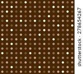 Seamless Geometric Brown Polka...