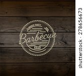 bbq badges logos and labels for ... | Shutterstock .eps vector #278656673