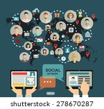 social media network concept...   Shutterstock .eps vector #278670287