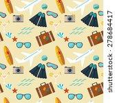 seamless pattern of summer flat ... | Shutterstock .eps vector #278684417