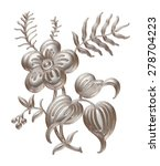 silver pattern in the form of... | Shutterstock . vector #278704223