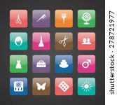 beauty salon icons universal... | Shutterstock .eps vector #278721977