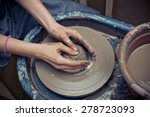 woman's hands making ceramic... | Shutterstock . vector #278723093