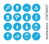 barbershop icons universal set... | Shutterstock .eps vector #278728427