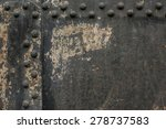 Black Metal Wall With Rivets