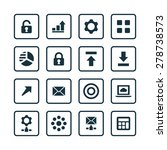 big data  database icons... | Shutterstock .eps vector #278738573