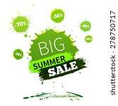vector watercolor banner with... | Shutterstock .eps vector #278750717