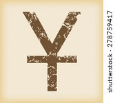 vector grungy brown icon with...