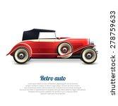 Retro Auto Red Classic...