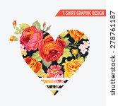floral heart graphic design  ...   Shutterstock .eps vector #278761187