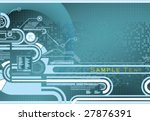 abstract blue background | Shutterstock .eps vector #27876391
