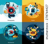 camera design set with... | Shutterstock .eps vector #278764427