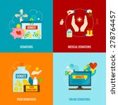 charity design concept set with ... | Shutterstock .eps vector #278764457