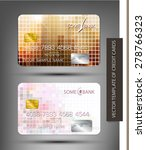 vector templates credit cards... | Shutterstock .eps vector #278766323