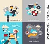 cloud computing design concept... | Shutterstock .eps vector #278766467