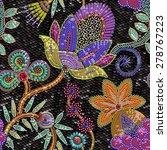 sequins floral seamless pattern. | Shutterstock .eps vector #278767223