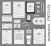 corporate identity template set.... | Shutterstock .eps vector #278771123