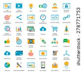 seo optimization icons. web... | Shutterstock .eps vector #278771753