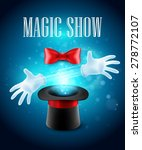 magic trick performance  circus ...   Shutterstock .eps vector #278772107