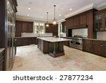 wood cabinet kitchen in luxury...   Shutterstock . vector #27877234