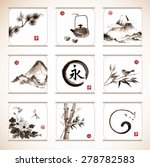 collection of elements hand... | Shutterstock .eps vector #278782583