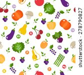 seamless pattern with... | Shutterstock .eps vector #278790827