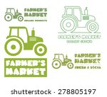 Set Of Tractor Logo Design...