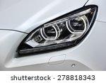 headlights and hood of sport...   Shutterstock . vector #278818343