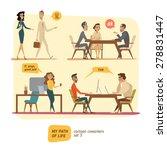 business persons in deals | Shutterstock .eps vector #278831447