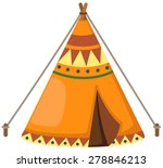 illustration of isolated indian ... | Shutterstock . vector #278846213