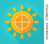 illustration of a sun icon with ... | Shutterstock .eps vector #278874923